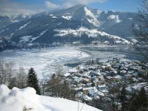 View on wintery Zell